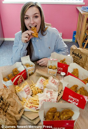 Georgie Scotney, 21, only ate KFC popcorn chicken and chips for three years because a disorder left her scared of other foods